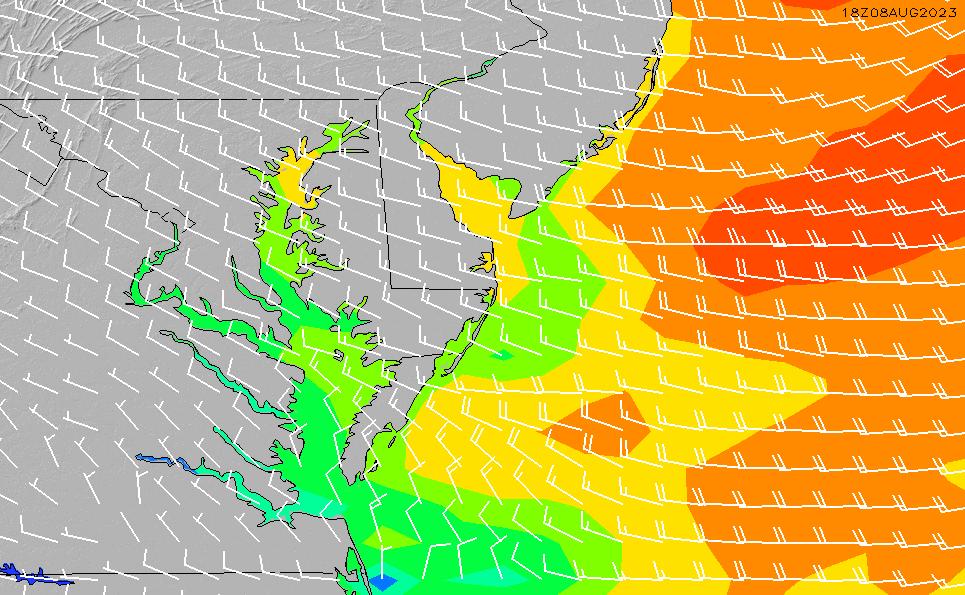 2021/5/10(月)16:00風速・風向