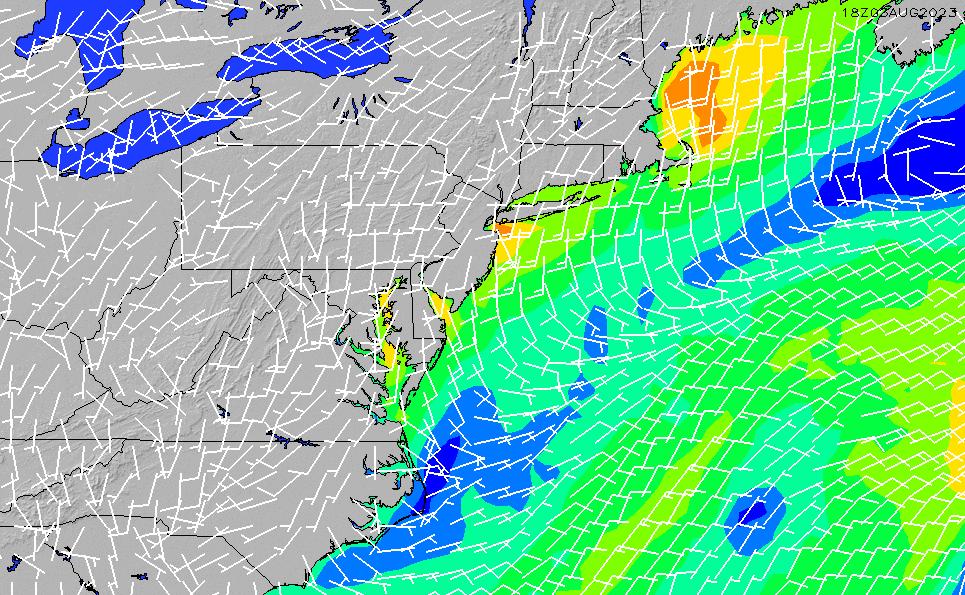 2021/3/4(木)5:00風速・風向