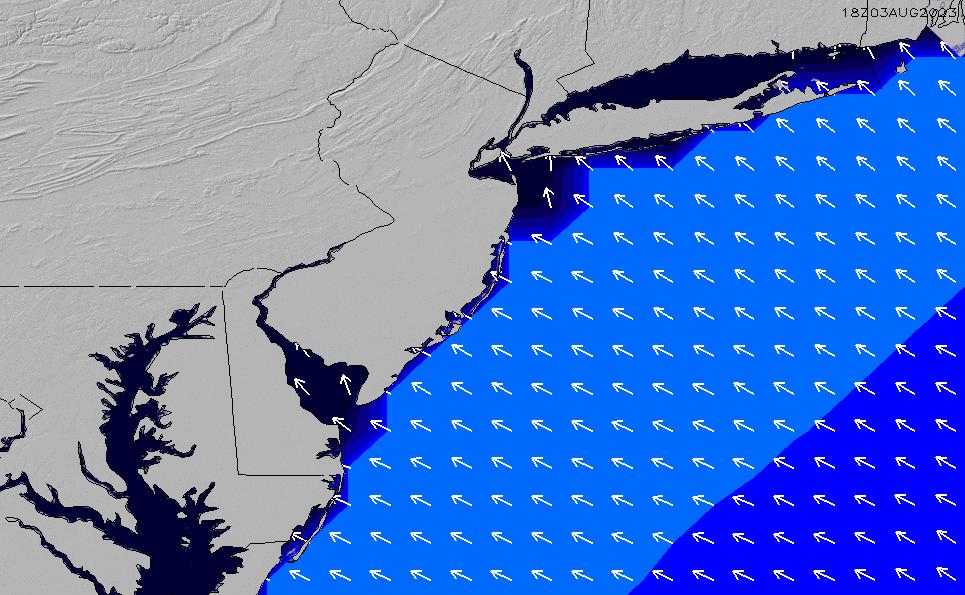 2020/9/28(月)22:00ポイントの波周期
