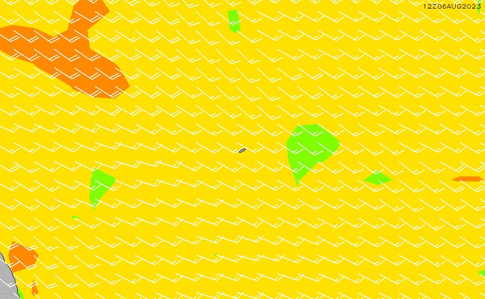 2021/2/28(日)20:00風速・風向