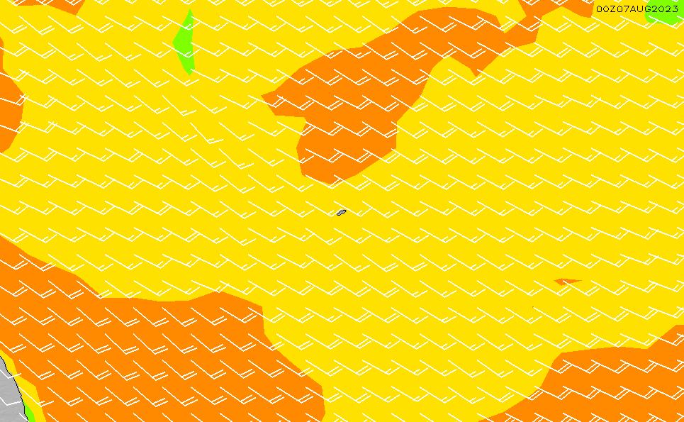 2021/10/22(金)8:00風速・風向