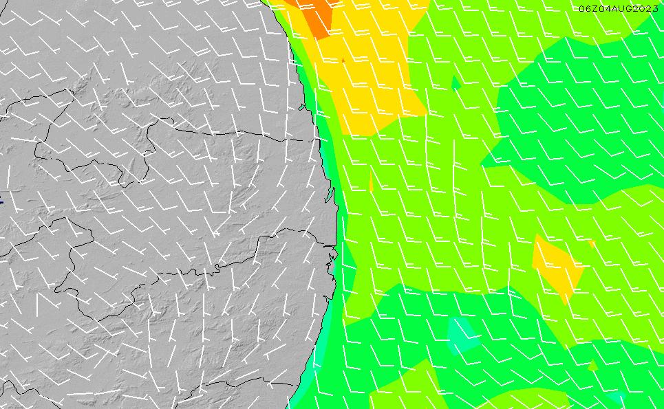 2021/5/12(水)21:00風速・風向