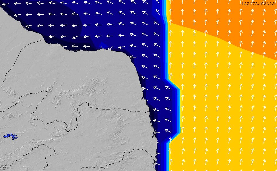 2021/4/17(土)21:00ポイントの波周期