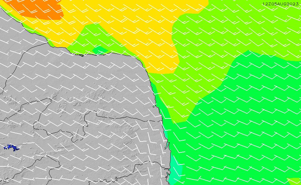 2021/4/15(木)3:00風速・風向
