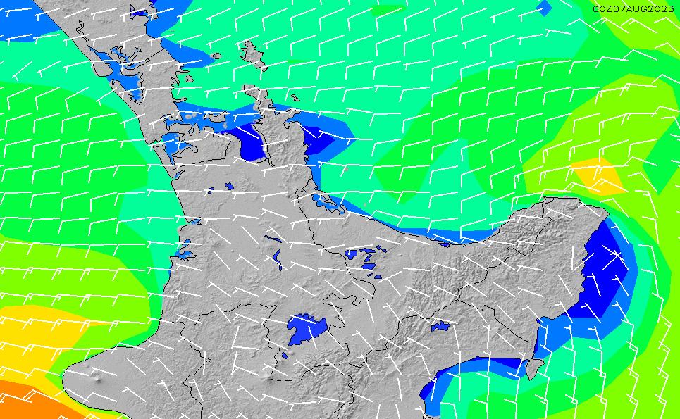 2020/3/29(日)19:00風速・風向