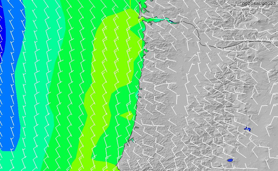 2020/9/21(月)1:00風速・風向