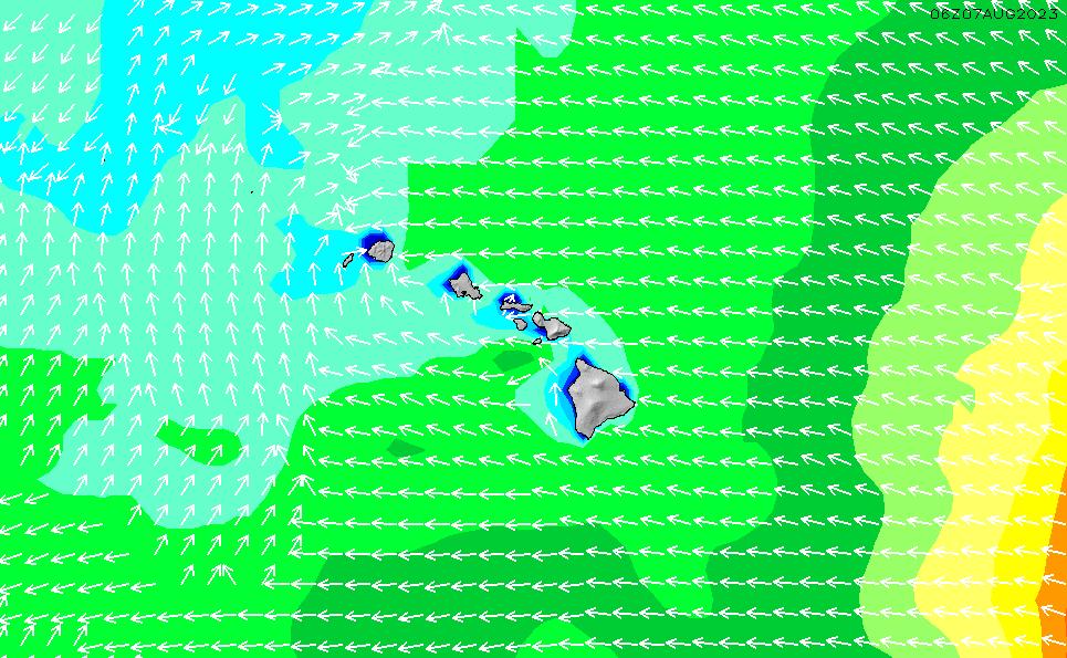 2020/9/24(木)22:00波高チャート