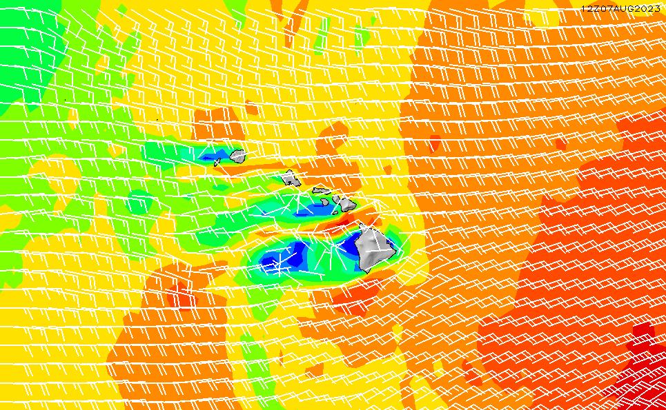 2021/2/26(金)22:00風速・風向