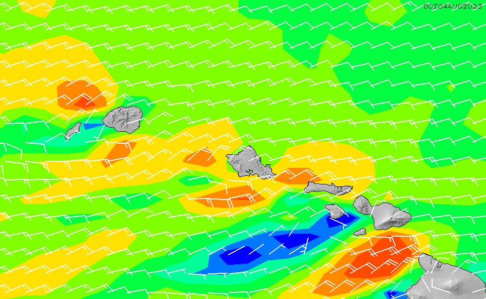 2021/3/3(水)22:00風速・風向