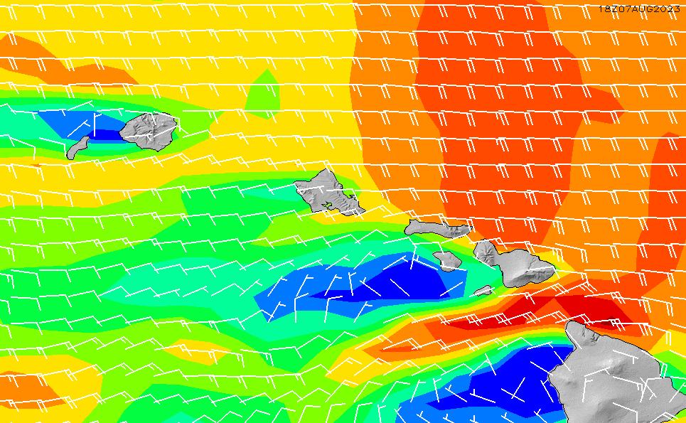 2021/3/4(木)22:00風速・風向