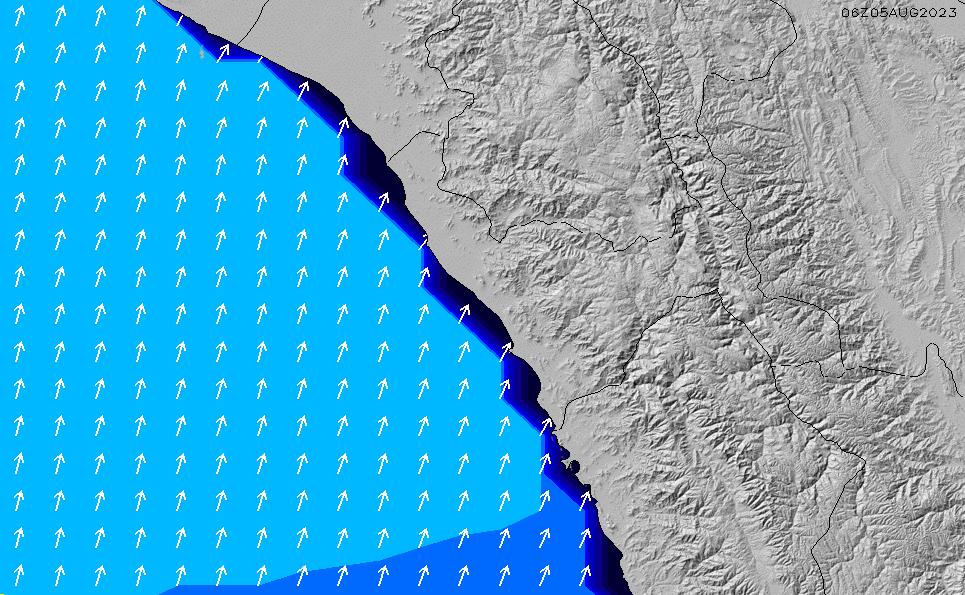 2021/3/2(火)23:00ポイントの波周期