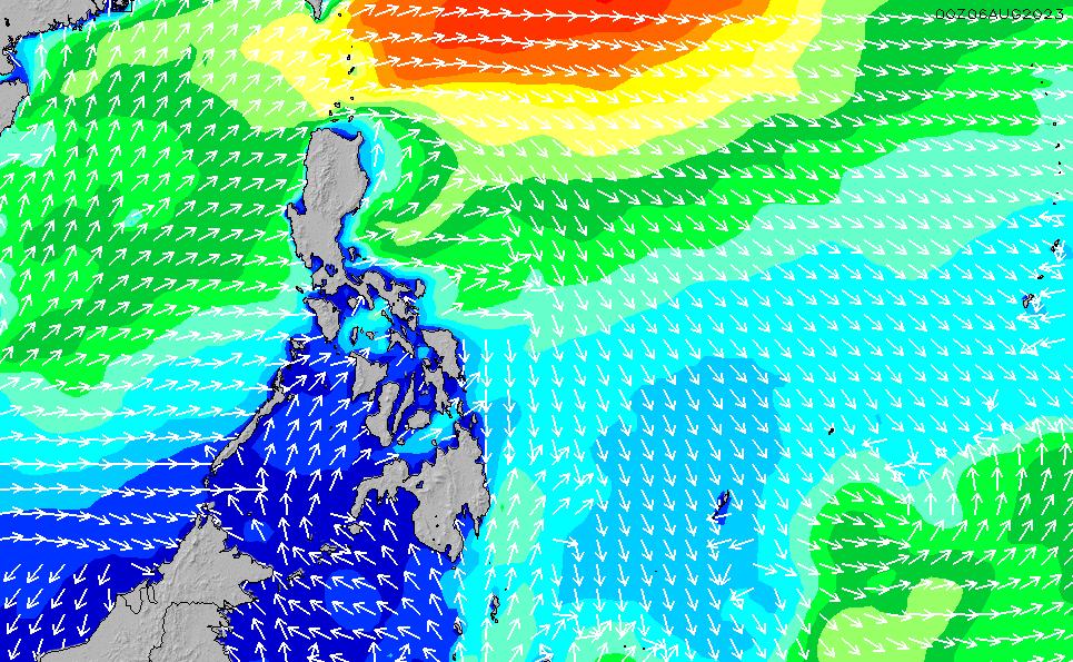 2021/5/17(月)8:00波高チャート