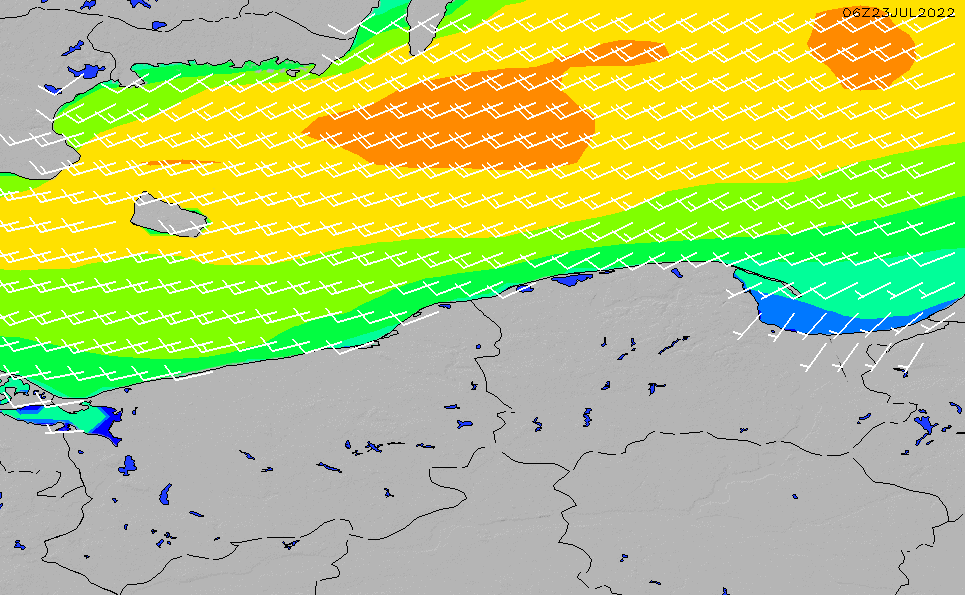 2021/10/19(火)8:00風速・風向