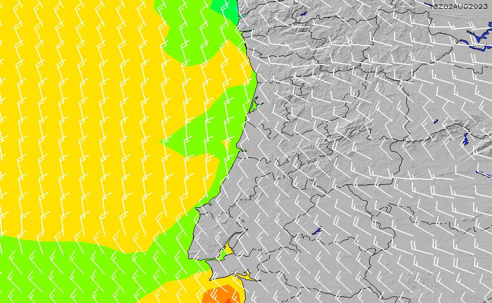 2021/3/4(木)0:00風速・風向