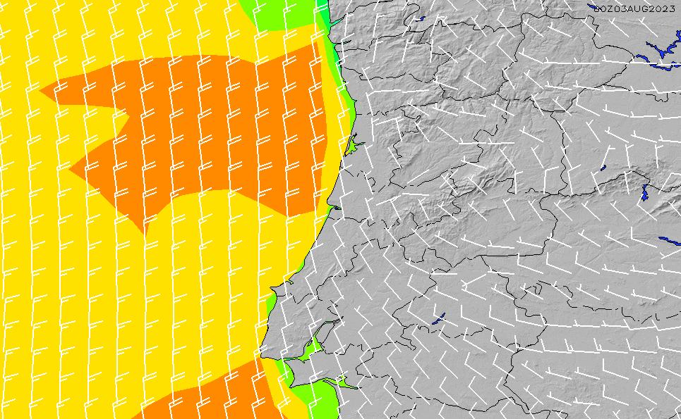 2021/7/28(水)1:00風速・風向