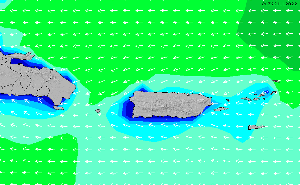 North Puerto Rico Wave Height Forecast Chart - Surfline