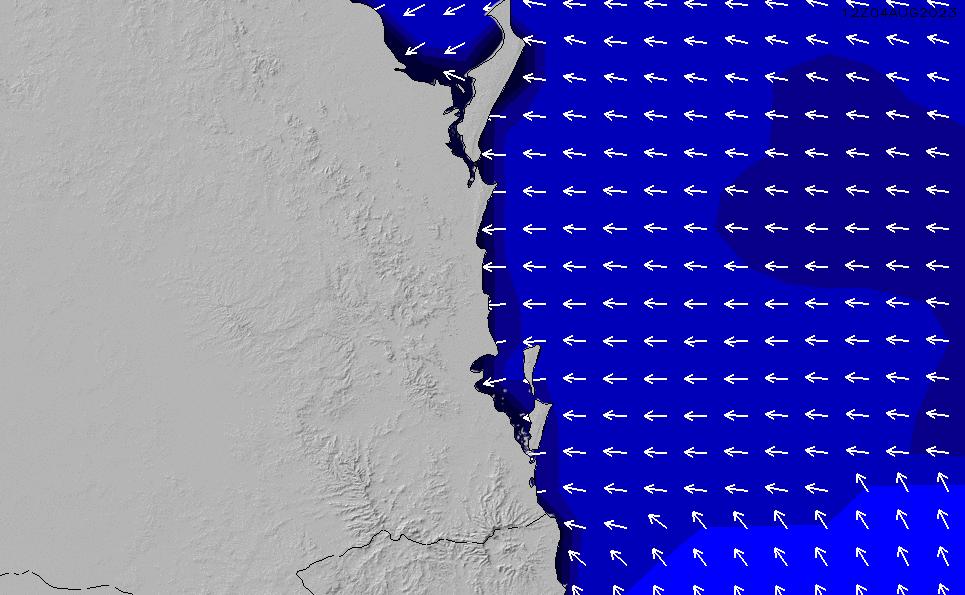 2020/9/22(火)4:00ポイントの波周期