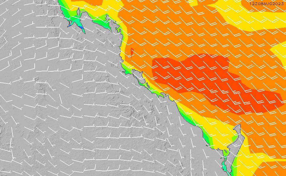 2021/5/17(月)16:00風速・風向