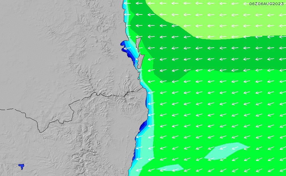 2021/3/3(水)4:00波高チャート