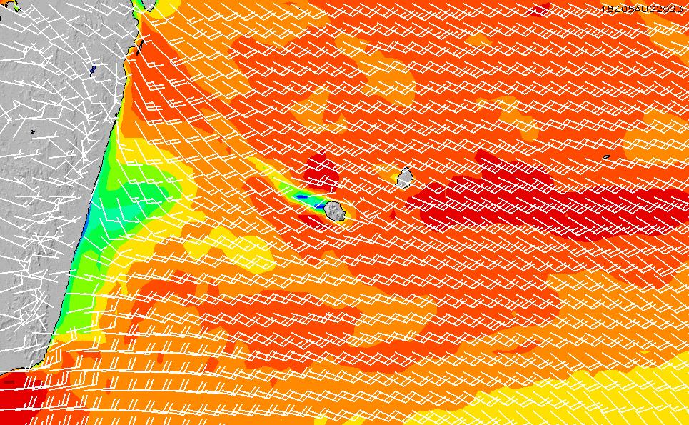 2021/10/26(火)16:00風速・風向