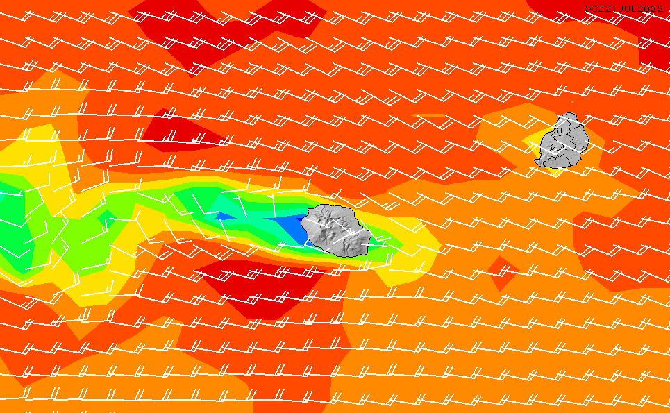 2020/7/15(水)10:00風速・風向