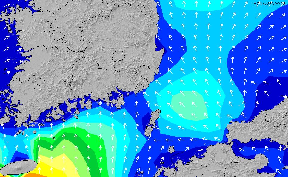 2021/3/3(水)21:00波高チャート