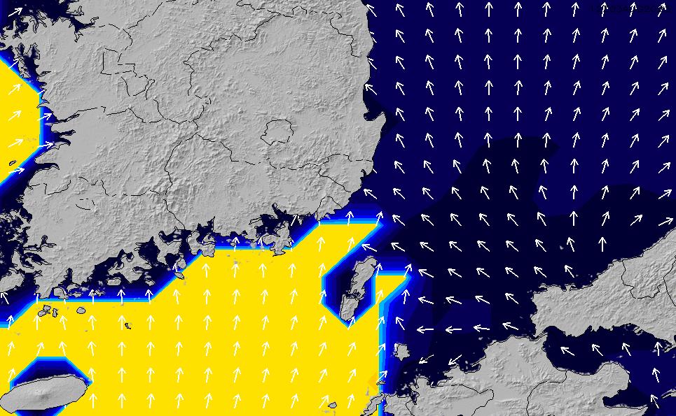 2021/3/3(水)21:00ポイントの波周期