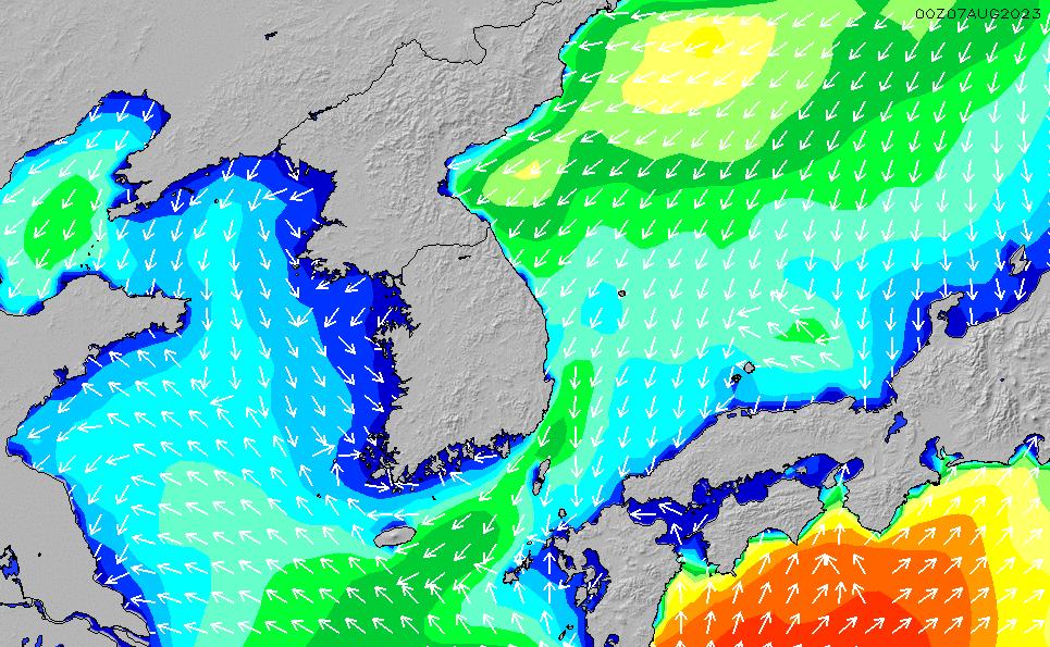2021/2/25(木)21:00波高チャート