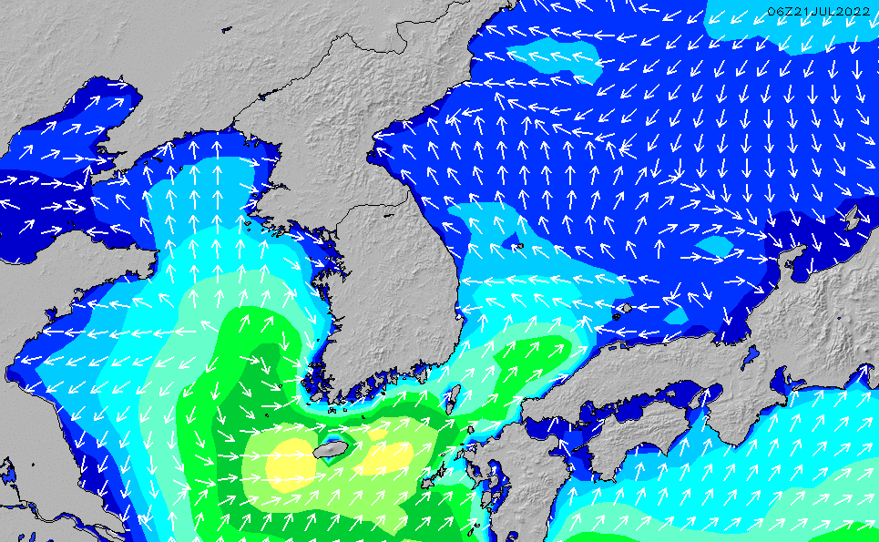 2021/5/12(水)3:00波高チャート