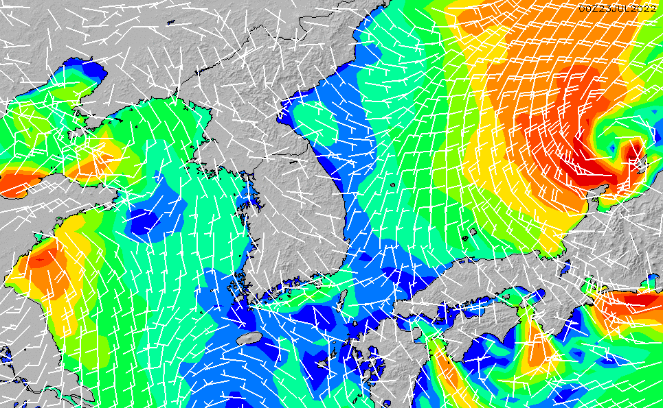 2021/4/18(日)3:00風速・風向