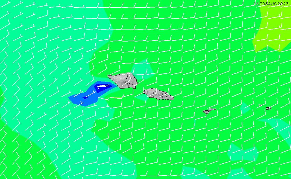 2021/10/19(火)2:00風速・風向