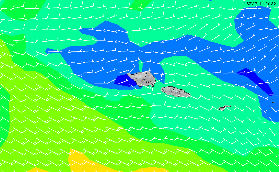 2021/3/8(月)20:00風速・風向