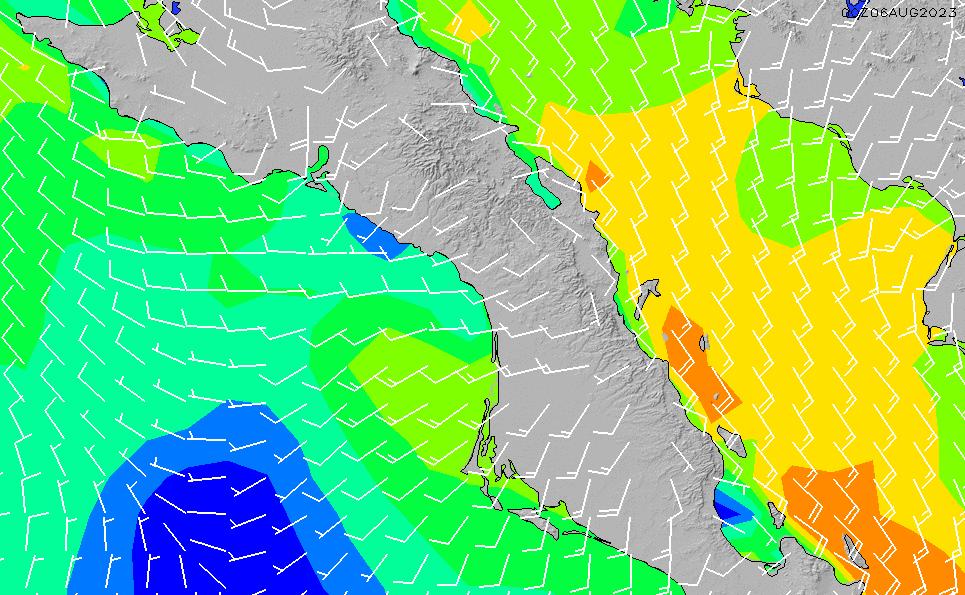 2021/9/29(水)12:00風速・風向