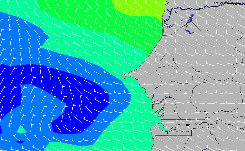 2021/3/3(水)12:00風速・風向