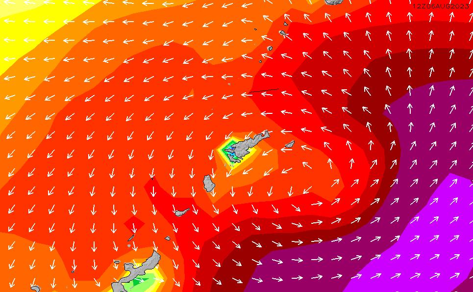 2020/2/24(月)15:00波高チャート