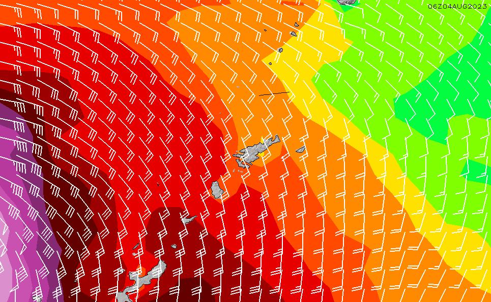 2020/4/8(水)3:00風速・風向