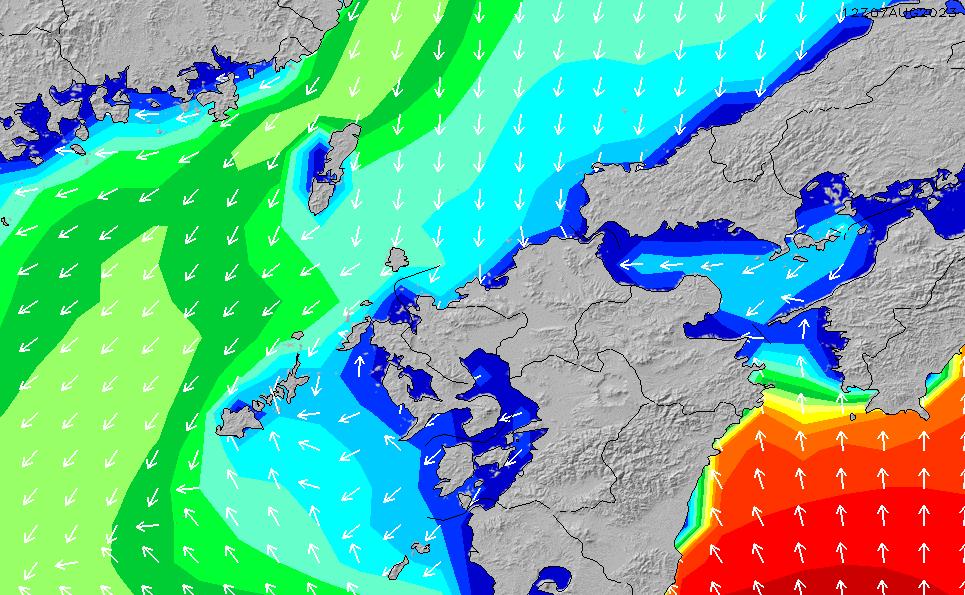 2020/1/23(木)9:00波高チャート