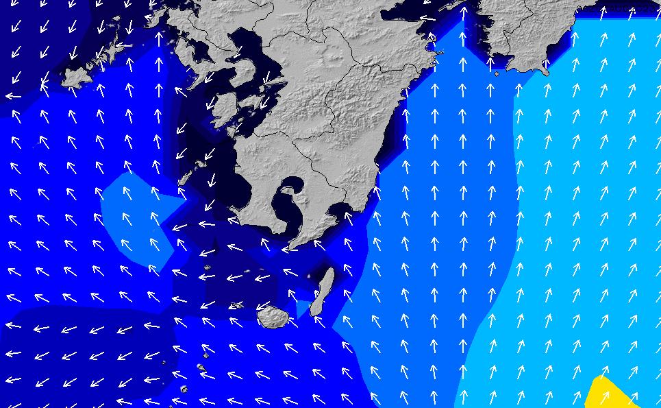 2020/2/29(土)15:00ポイントの波周期
