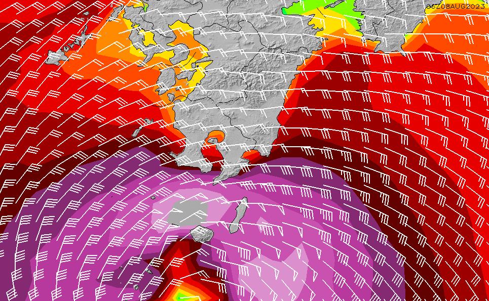 2020/6/5(金)9:00風速・風向