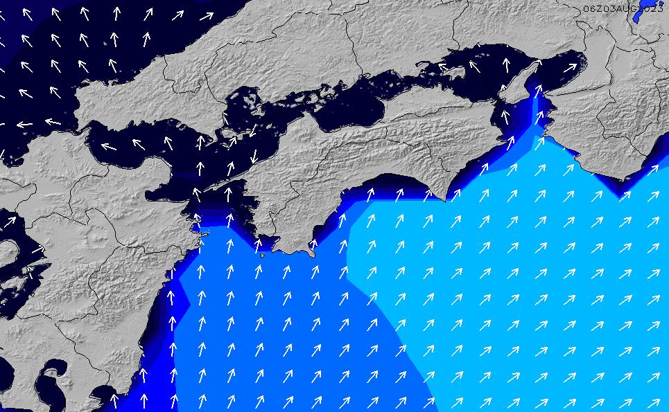 2020/8/10(月)9:00ポイントの波周期