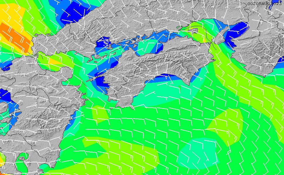 2020/8/10(月)9:00風速・風向
