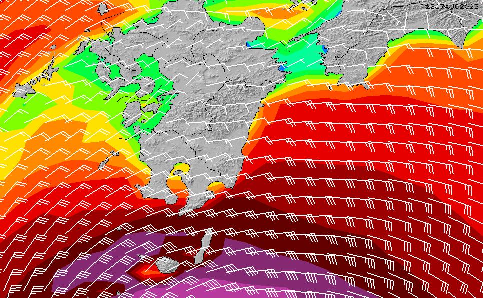 2020/1/20(月)9:00風速・風向