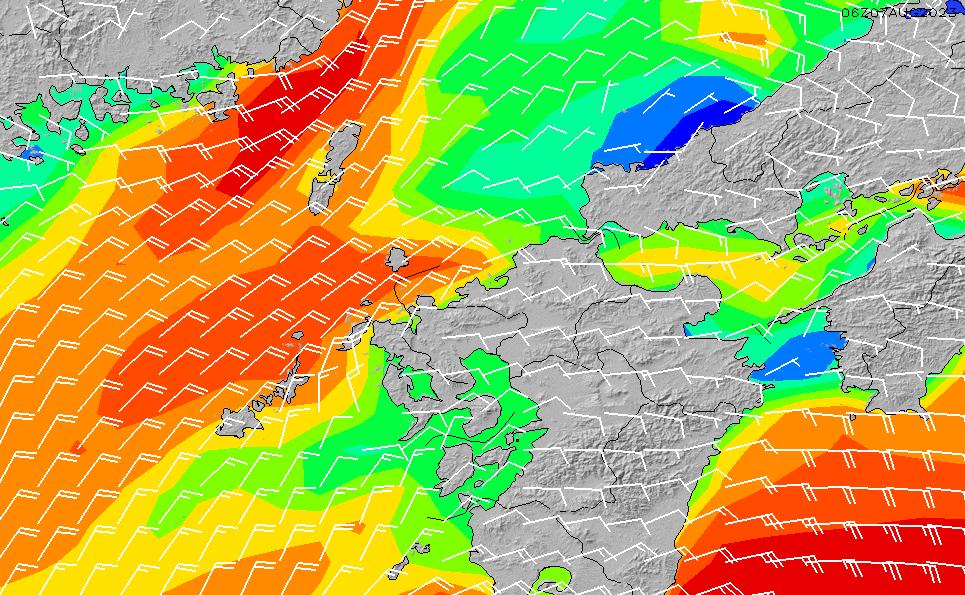 2020/9/30(水)3:00風速・風向