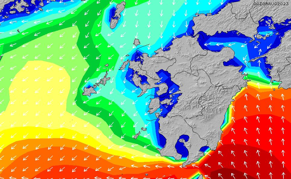 2020/1/24(金)15:00波高チャート