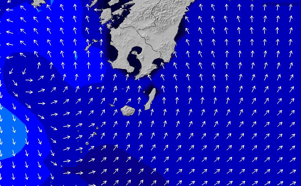 2020/10/31(土)21:00ポイントの波周期