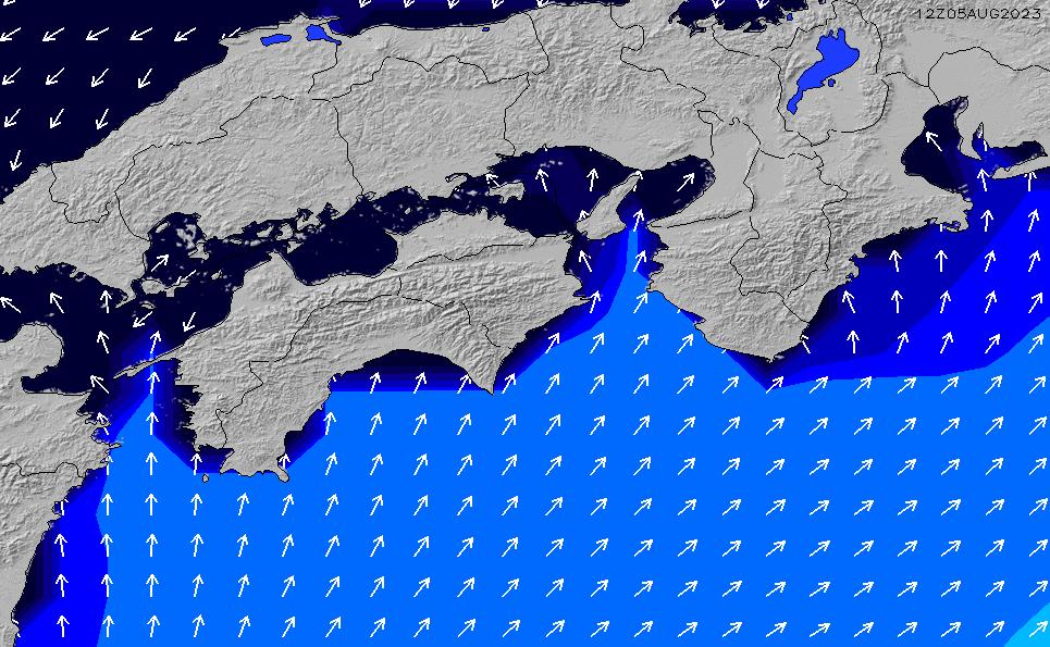 2020/1/30(木)21:00ポイントの波周期
