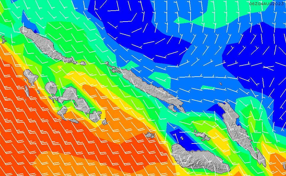 2021/10/25(月)23:00風速・風向