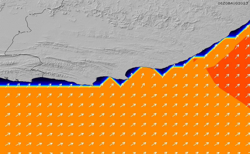 2020/9/23(水)20:00ポイントの波周期