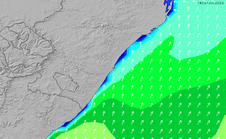 2021/3/3(水)14:00波高チャート