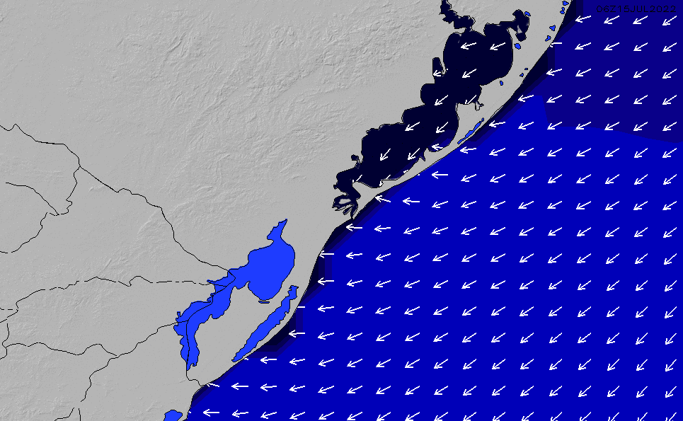 2021/3/6(土)21:00ポイントの波周期